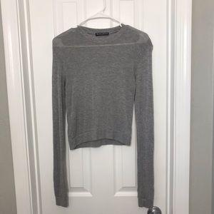 Brandy Melville Gray Long Sleeve Shirt / Top